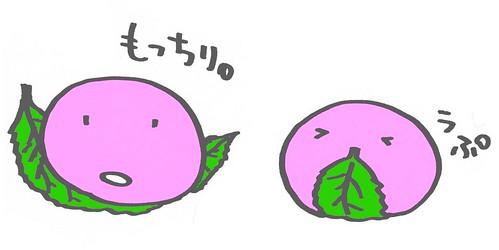 もっちり桜もちグレー補正
