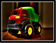 The Truck (Caucas') Tags: wood blue red brown green yellow azul digital truck canon turkey relax toy toys eos rebel interesting trkiye machine plastic trkei blacksea karadeniz turkije turquia turkish pvc turkei oyuncak caucas anadolu kamyon xti platinumheartaward pilsan
