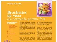 Brochette de veau pommes fruits