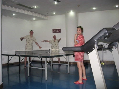 Ping pong in pajamas