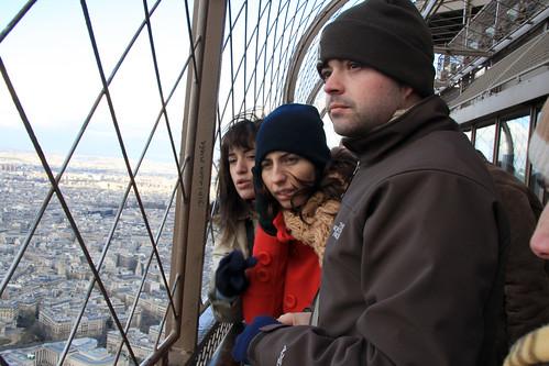 En lo alto de la Torre Eiffel