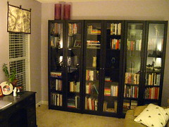 New bookcases in the parlor