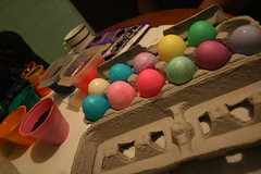 (love was all we knew) Tags: family pink blue orange holiday color green yellow glitter easter fun sticker colorful purple egg stickers eggs dye dyeing eggcarton