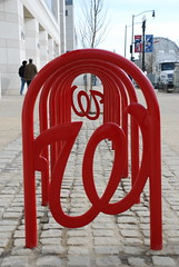 Curly W bike racks