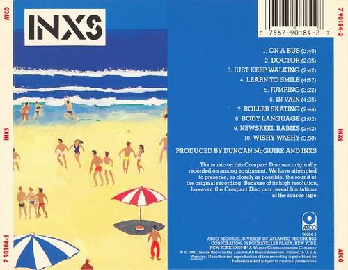 INXS: self-titled debut [rear] (1980)