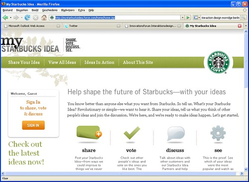 screenshot My Starbucks idea