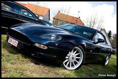 Aston-Martin DB7 Volante (Pieter Ameye) Tags: auto blue cars beauty digital canon macintosh eos rebel blauw power martin belgium belgique head belgi kitlens automotive voiture bleu exotic coche soul british petrol mm 1855 blau polarizer cabrio macchina cruiser pieter aston astonmartin volante brits cabriolet lightroom v12 petrolhead softtop db7 azuli ameye 400d iancallum pietera pieterameye powerbeautysoul astonmartinlagondalimited