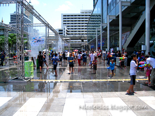 water fest in front of siam paragon