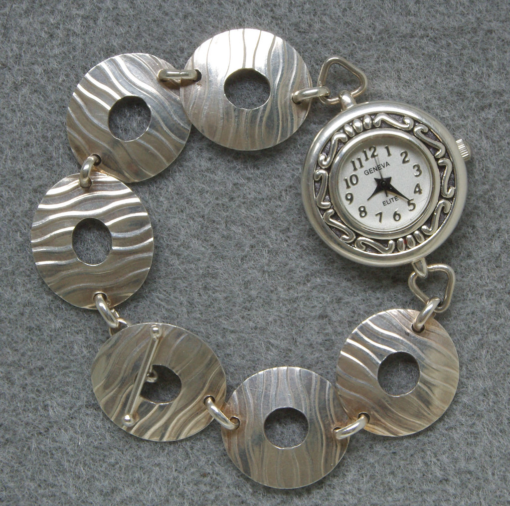 Silver Watch from Sea and Star Designs