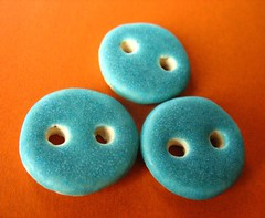 Turquoise Ceramic Buttons