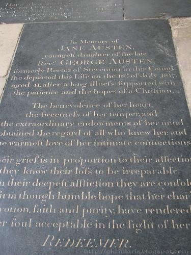 Jane Austen's tombstone
