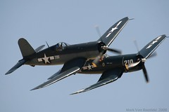 Whistling Death (mvonraesfeld) Tags: museum flying fighter aircraft aviation wwii flight airshow corsair chance warbird chino planesoffame f4u vought
