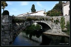 Bridge Quillan (Ursula in Aus) Tags: bridge france reflection river languedoc quillan pyrnesorientales pyrennees sentiercathare languedocroussilon cathartrail catharepath