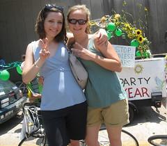 Green Party Car! (Luthien T) Tags: houston artcarparade