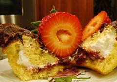 Strawberry S'more Cupcake (Vegan Feast Catering) Tags: cake vegan strawberry chocolate grahams ricemellow gonnagowalkthedogsvoxcom ice11
