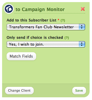 Campaign Montitor Opt In Options
