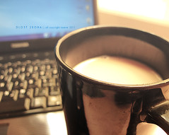 ~ (DLo3t 2boha) Tags: black canon حليب صباح اسود morninig ازرق كانون صباحك صباحي canong11 كانونجي11 صباحيأنت قهوه،قهوةصباح