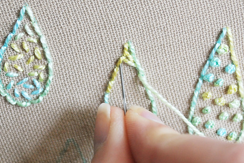 Modified Satin Stitch