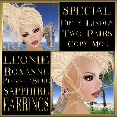 LEONIE Special Roxanne Sapphire Earrings