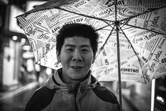 好友-周董 (傑森林 (Jason Lin)) Tags: street portrait people bw 35mm blackwhite nikon friend taiwan taipei 朋友 nikkor 台北 黑白 人像 2014 周董 d600 雨 永康街 raint 35mmf14g