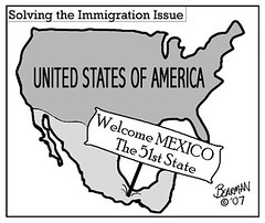 Print August Solving Immigration Bearman Cartoon