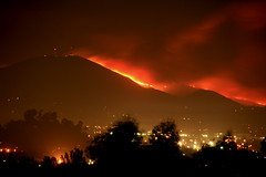 Mt. San Miguel is on fire.  San Diego County wildfires (slworking2) Tags: california county wild mountain nature miguel wow fire spring san mt sandiego flames diego brush east mount explore southern burning fl