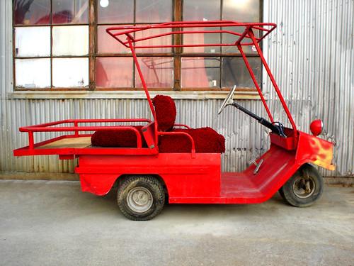 Red Cushman 1972 Electric Golf Cart 4 by Jason