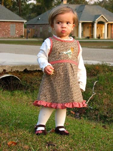 Ava in her dress