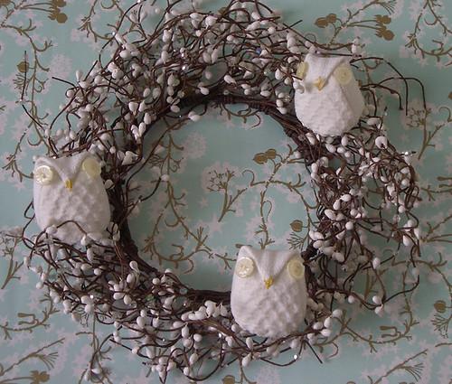 Festive Snowy Owls