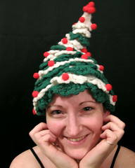 Dec18-day332of365 (mickeyjohnson) Tags: christmas holiday selfportrait silly tree me girl hat crochet thriftstore 365days interestingness465 i500 mickeysacks