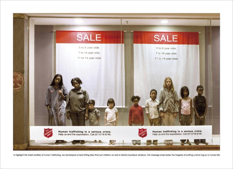 Campanha contra o tráfico de seres humanos
