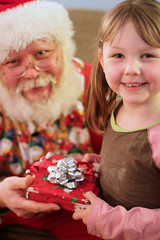 Paige and Santa