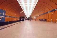 Mnchen U Bahn 1974 4 (smata2) Tags: city canon germany subway munich mnchen bayern bavaria transit stadt scanned ubahn untergrund deutchland ecktachrome ubahnmuenchen:station=mp ubahnmuenchen:traintype=a ubahnmuenchen:line=3 ubahnmuenchen:line=6 myoldstuff