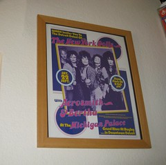 New York Dolls poster in Robby's apartment