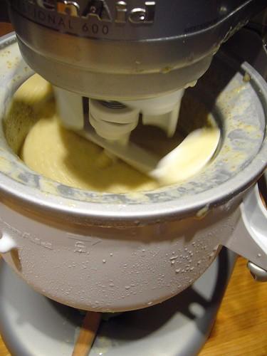 Churning Pear Ice Cream