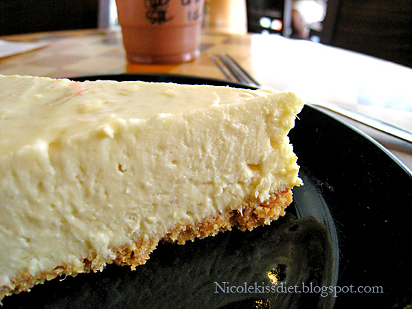 durian cheesecake slice