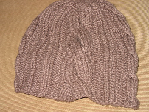 Asymmetric Cable Hat
