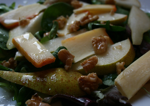 Pear Cheese Walnut Salad 2