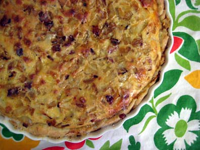 Quiche Oignon & Cumin (Onion and Cumin Quiche)