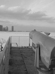 Observation Platform (ChicagoSage) Tags: bw ice clouds geotagged lakemichigan lakepointetower geo:lat=41866761 geo:lon=87606853