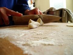 Cutting the dough (thousandfold) Tags: food dough chinese delicious cutting dumplings making dumpling