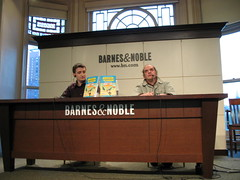 Harvey Pekar and Michael Malice at Barnes and Noble, April 2006 (Gary Dunaier) Tags: nyc newyorkcity manhattan unionsquare signing barnesnoble autographs malice barnesandnoble americansplendor harveypekar pekar michaelmalice