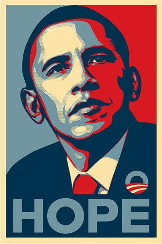Barack Obama Hope Sticker by PEEL.