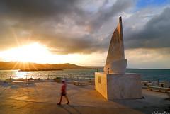 "La ""vela"" al tramonto (Andrea Moro) Tags: sunset sea tramonto mare tokina1224 sanbenedettodeltronto"