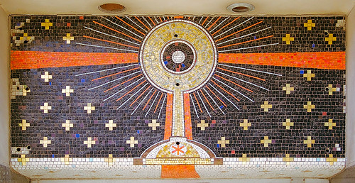 Former Eucharistic Shrine, in Saint Louis, Missouri, USA - mosaic