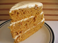 Sweet Potato Layer Cake with Rum-Plumped Raisins and Caramel Cream Cheese Frosting