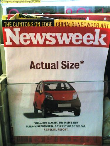 Actual Size Newsweek