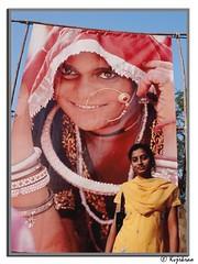 FACES (Kvjrkrao) Tags: film contrast women faces culture indians hyderabad hpc nikonf80 indianwomen fujiprovia golcondafort kvjrkrao urbanwomen ruralwomen noseringthefeminine