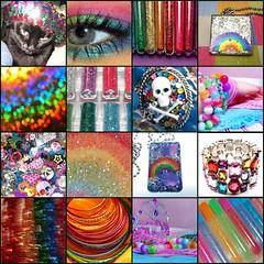Sparkley Rainbow Mosaic