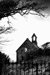 Are But A Tale To Be Told (Michelle In America) Tags: old ireland bw white black building church fence grey ruin shell wexford kilmore blueribbonwinner bastardstown challengeyouwinner abigfave anawesomeshot isawyoufirst diamondclassphotographer flickrdiamond
